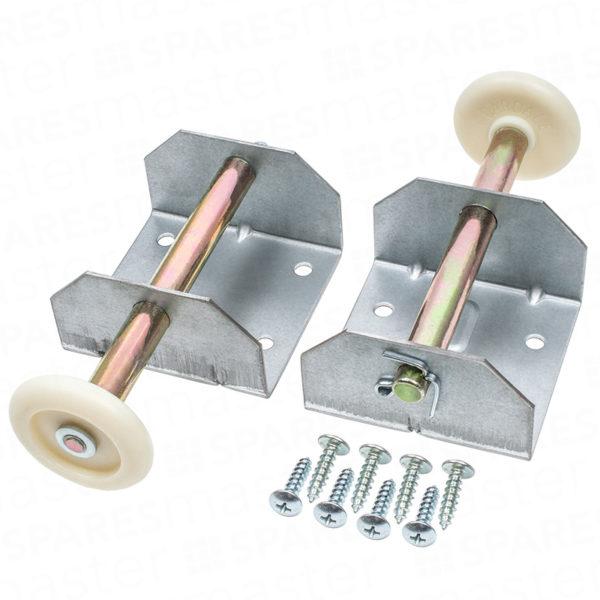 Cardale slideaway garage door roller spindles & brackets – single