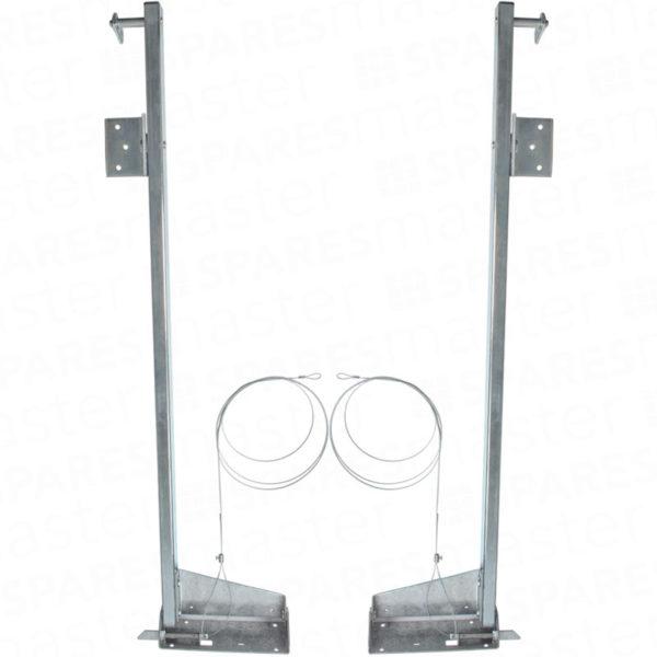 Cardale double garage door pivot arms