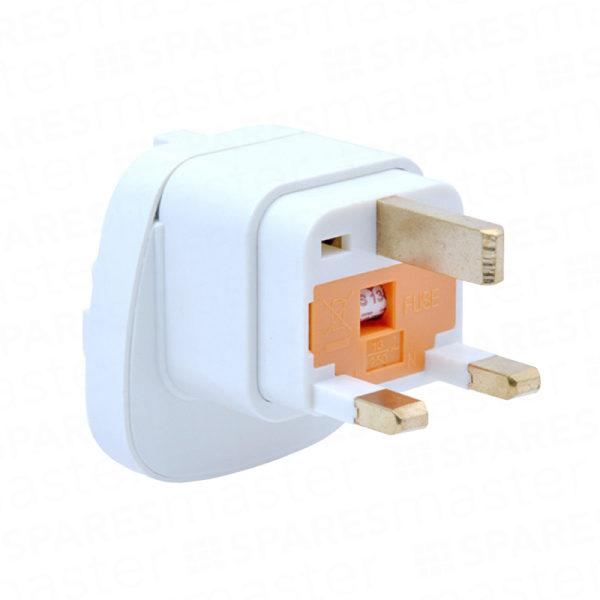 Mains plug adaptor EU to UK