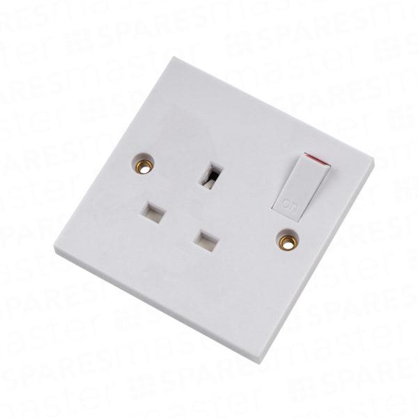 Switched flush socket 13A – single