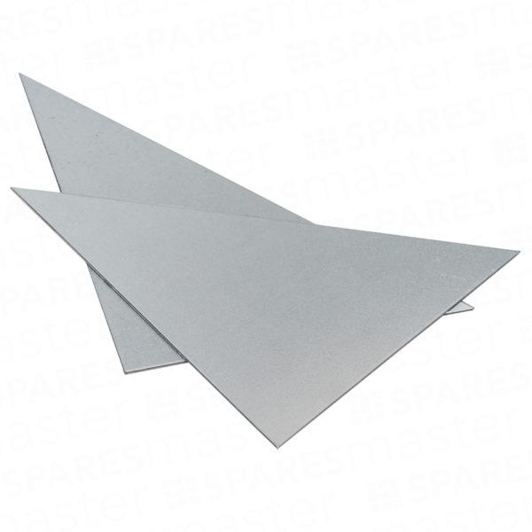 Triangular corner plates