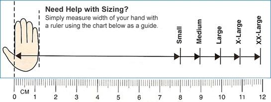 Black Mamba glove size chart
