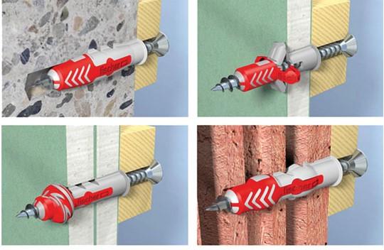 Fischer Duopower wall plugs application